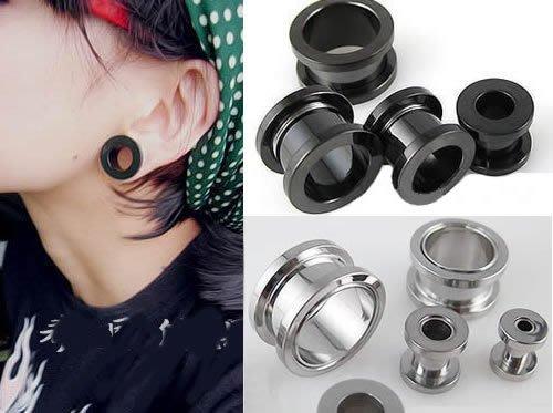 ☆追星☆ 952(二色可選)1.8公分耳擴器 耳環(1個)西德鋼 擴耳器 擴洞耳環 耳針 體環 穿刺藝術