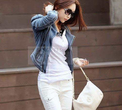 BANG◎短版牛仔外套 外套 夾克 單寧外套 女生外套 顯瘦 短版【WJ13】
