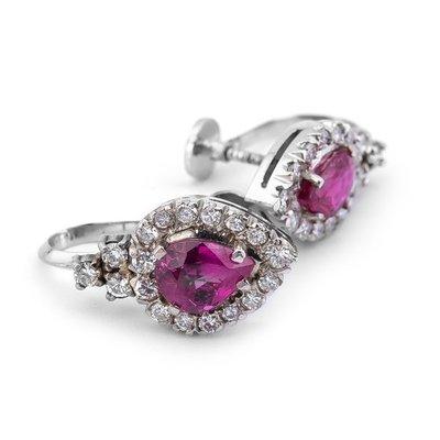 【JHT金宏總珠寶/GIA鑽石專賣】天然紅寶鑽石耳環/材質:14K(JB22-BE24)