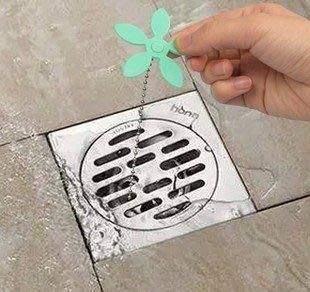 晶華屋--小花造型排水管防堵器 神奇毛髮清理神器 水槽清理器 家用水槽防堵清潔鉤 (1入)