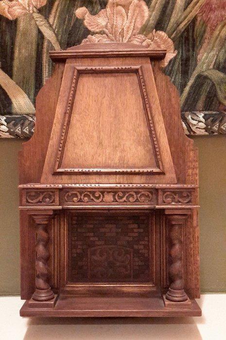 【波賽頓-歐洲古董拍賣】歐洲/西洋古董 法國古董 19世紀 老件木雕 壁爐木雕擺飾(尺寸:46×30×9公分)