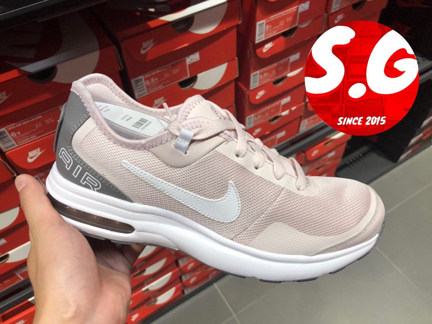 S.G NIKE AIR MAX LB GS 休閒 運動鞋 粉紅 白 AA3508-600