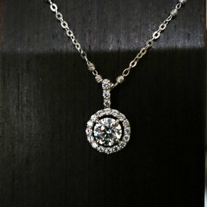 14k金項鍊韓版時尚9k金吊飾鑲1克拉高碳鑽八心八箭碎鑽微鑲真鑽鉑金質感整組特價鑽寶