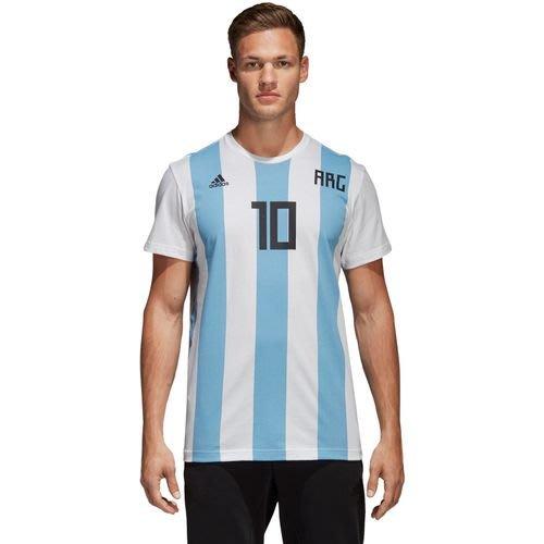 玉米潮流本舖 ADIDAS CW2146 藍白條紋 世界盃足球賽 阿根廷隊 MESSI 梅西 男短袖 T恤