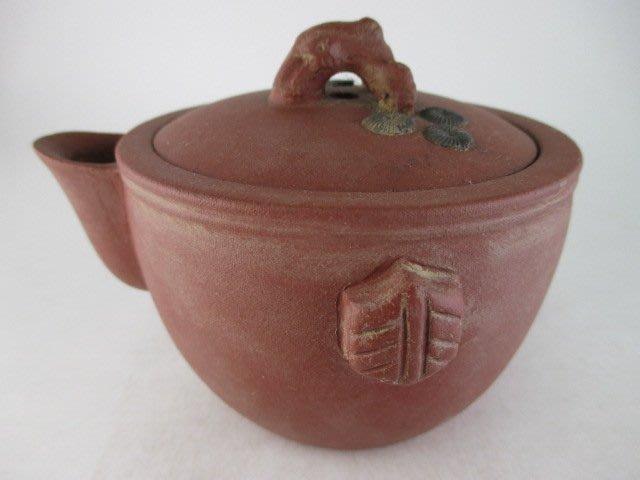 《藏寶閣》22702《無把松樹壺》《清水泥.10孔.220cc》中國宜興... 1500元