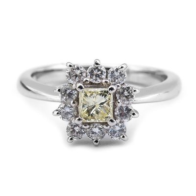 【JHT 金宏總珠寶/GIA鑽石專賣】0.43ct天然鑽石造型戒指/材質:PT900(JB20-A13)