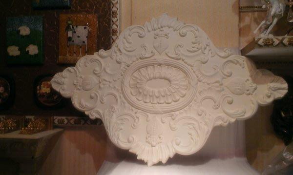 居家藝術-歐洲宮廷藝術精品維多利亞 巴洛克立體浮雕PU燈座-PO-10974 $2580適 水晶燈
