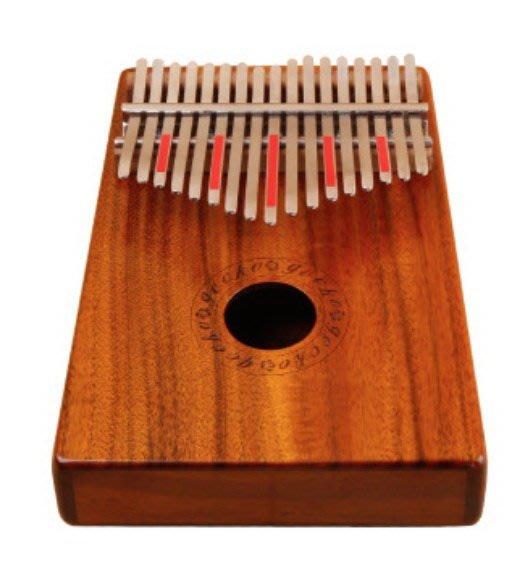 ☆ 唐尼樂器︵☆ GECKO K17K 相思木單板 17音 拇指琴 卡林巴琴 手指鋼琴 簡單便攜式樂器 奧福樂器