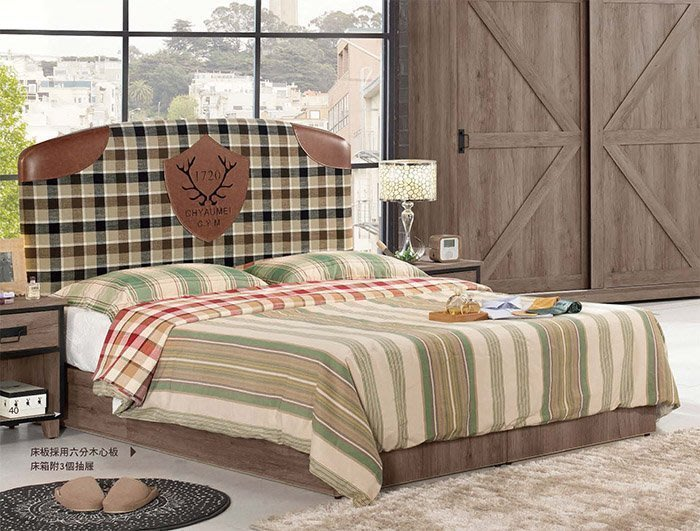 【DH】貨號G021-1名稱《德麥哈》3.5尺床台(圖一)床片+6分木心板三抽床底.備有5尺可選.主要地區免運費
