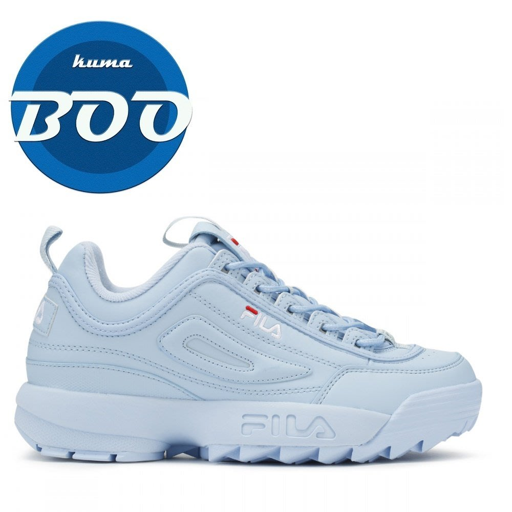 BOO- FILA Disruptor II Premium 藍色 厚底 復古 爸爸鞋 老爹鞋 女鞋