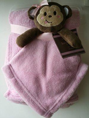 【美國品牌】100%全新正品 嬰幼兒 輕柔舒眠 極柔絨毯/ 毛毯/ 抱毯/ 萬用毯 冷氣房可用 彌月禮 二件組BAB03