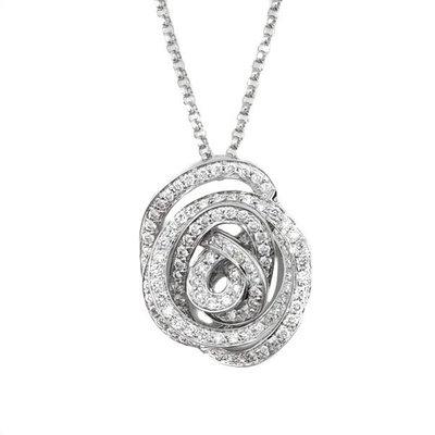 【JHT金宏總珠寶/GIA鑽石專賣】0.80ct天然鑽石造型項鍊/材質:18K(JB43-A43)