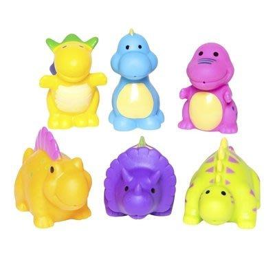 ♡NaNa Baby♡ 美國Elegant Baby 洗澡玩具6入組- 恐龍派對 #40565