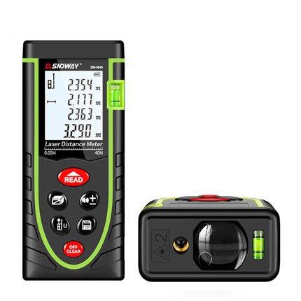 手持式測距儀 激光測距儀 高精度紅外線測量儀 量房儀 電子尺 自帶校準