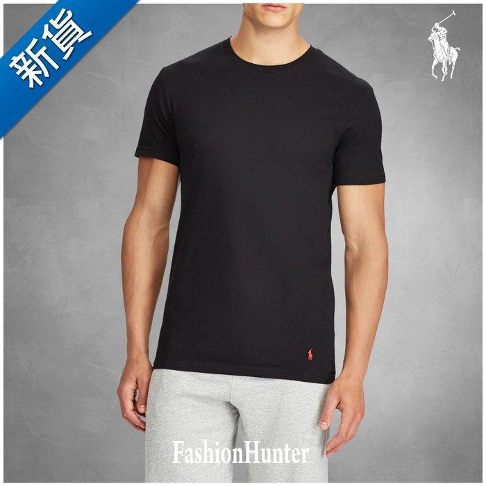 新貨【FH.cc】Polo Ralph Lauren 素t 圓領素面 短袖T恤 黑 衣腳刺繡小馬 成人款 寬鬆版型