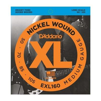 ☆ 唐尼樂器︵☆美國製 D'Addario EXL160 (50-105) Bass 4弦套弦