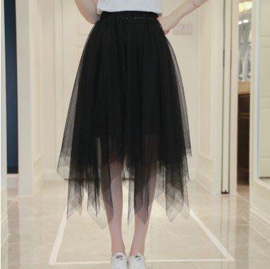 【現貨+預購R】2017新款不規則網紗裙半身裙