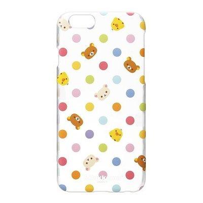 尼德斯Nydus~* 日本正版 San-X 拉拉熊 懶懶熊 透明硬殼 手機殼 水玉點點款 4.7吋 iPhone6