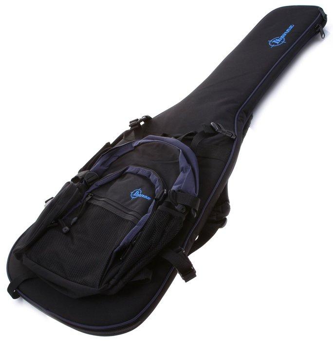 【六絃樂器】全新 Ibanez GBP 黑色電吉他袋 可拆式背包 / 現貨特價