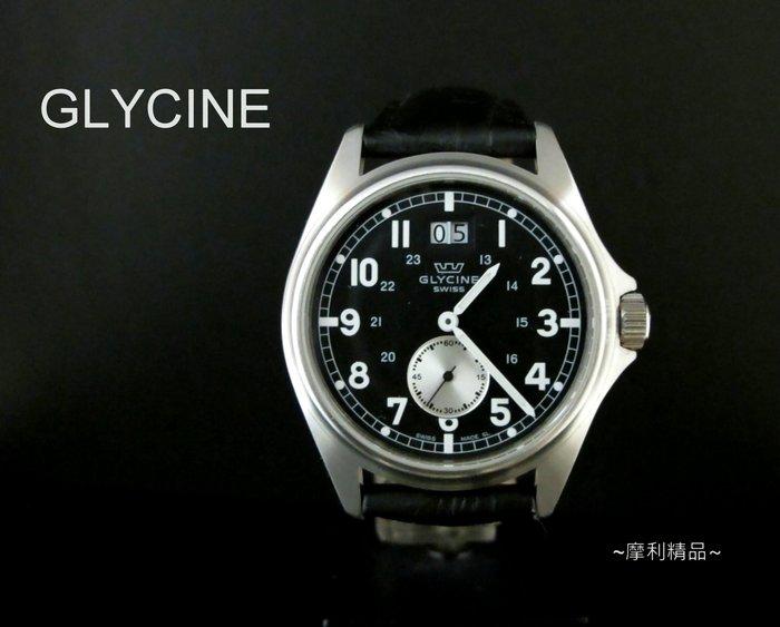 【摩利精品】GLYCINE冠星大視窗錶 *真品* 低價特賣