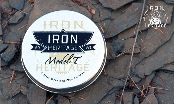 GOODFORIT / 芝加哥Iron Heritage Model T Pomade天然蜂蠟霧光油性髮油/4OZ