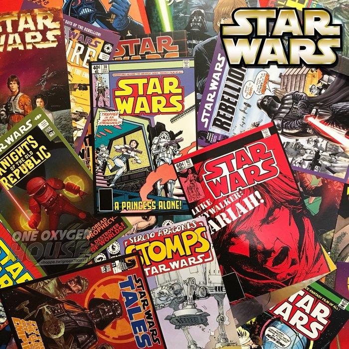 美國 Star Wars Comics Postcards 星際大戰 名信片 明信片 卡片 黑武士 白兵 尤達 海報