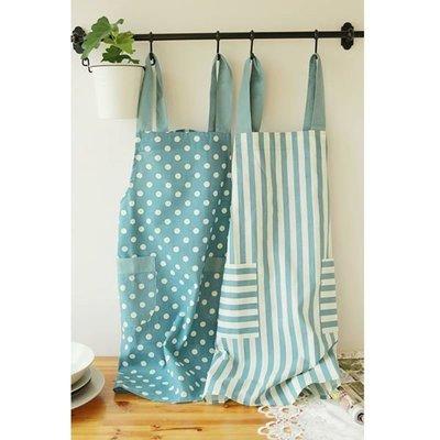 日式 無印風 棉麻 工作廚房圍裙