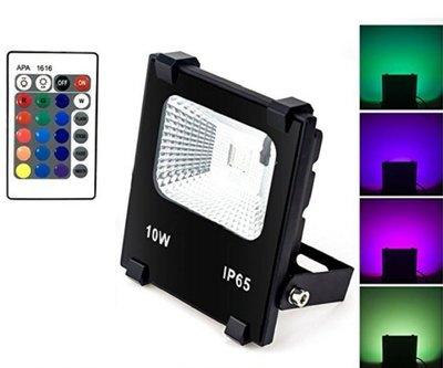 LED 10W RGB 投射燈 附搖控器 幻彩色 戶外防水 投光燈 探照燈 照樹燈 造景燈 $480