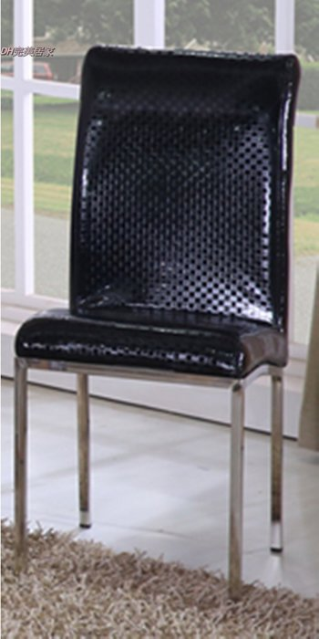 【DH】商品貨號N986-7商品名稱《卡其》黑皮方格餐椅。沉穩俐落經典設計。新品特價中~