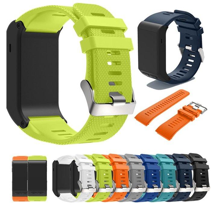 小宇宙 醫療級 佳明 Garmin Vivoactive HR 智能手環十字紋矽膠錶帶 柔軟透氣 舒適 運動手環替換腕帶