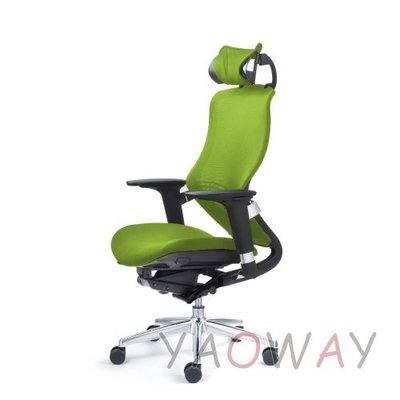 【耀偉】舒樂活 NU CHAIR鋁合金款網椅-綠(人體工學椅/主管椅/電腦椅/網椅)