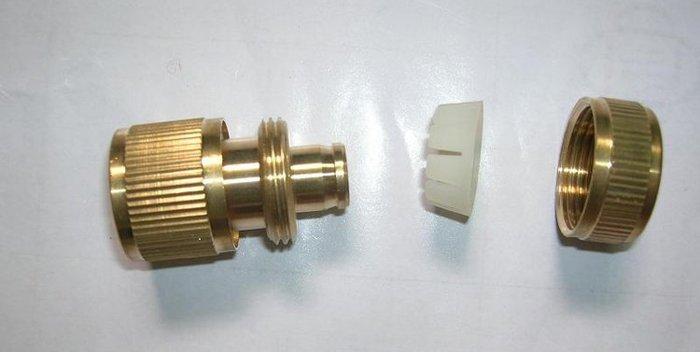 洗車水管接頭4分12~16mm水管接頭園林全銅通水接 接頭軟管 通水接