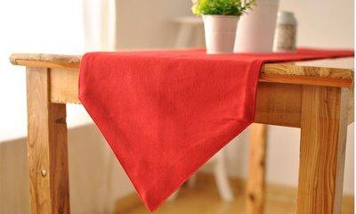 【#021 大紅】棉麻桌旗 ♥30*1...