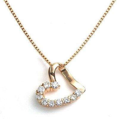 【JHT 金宏總珠寶/GIA鑽石專賣】0.50ct天然鑽石項鍊/材質:18K(JB41-B30)