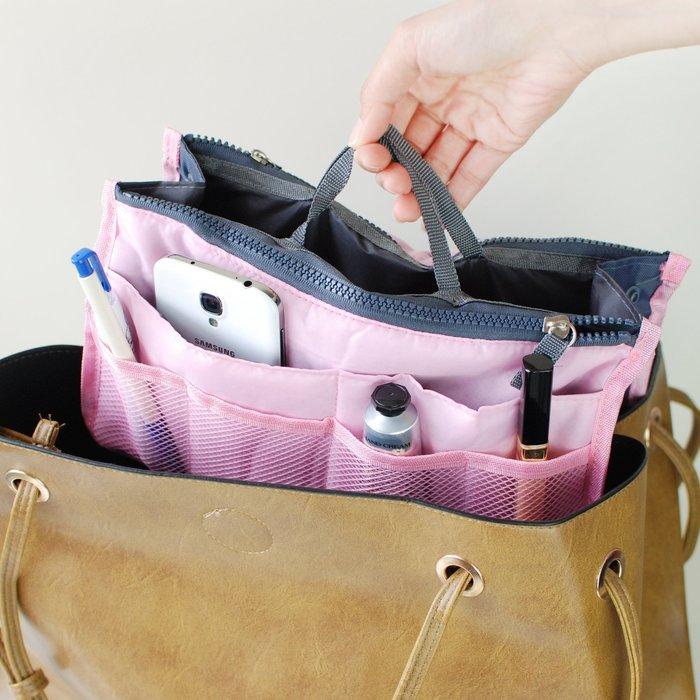 【里樂@ LeaThER】手提收納包 包中包  收納袋 化妝包 巧 423