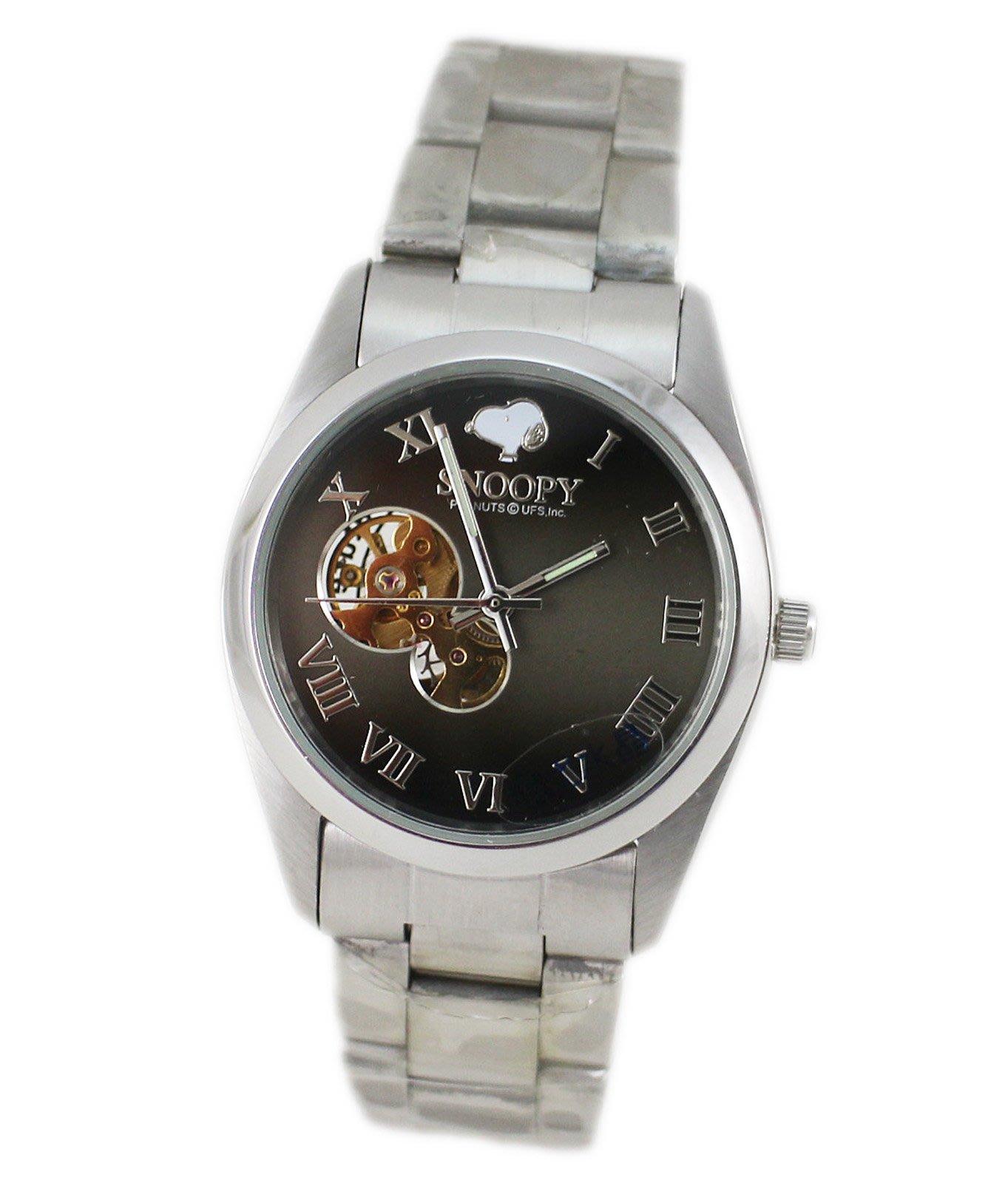 【卡漫迷】限量 史奴比 機械 手錶 ㊣版 史努比 男錶 女錶 Snoopy 不鏽鋼 強化水晶鏡面 五折特價2490元