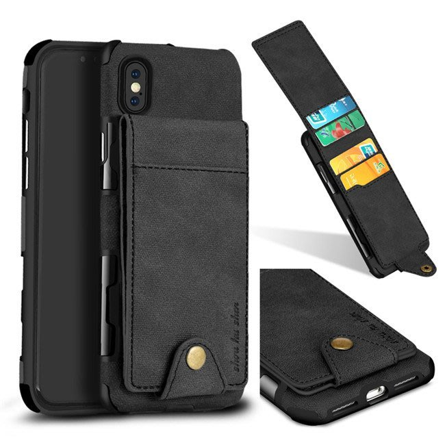 iPhone X 8 7 6S Plus 手機皮套上下翻 輕薄外殼 散熱 插卡 錢包皮套 磁釦 復古萬能包 手機包