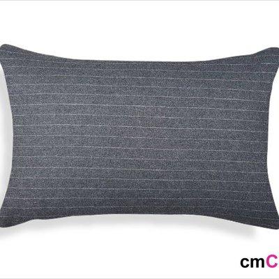 = cmCasa = [5168]美式簡約經典設計 約克橫條紋腰枕抱枕套30x50 多尺寸新發行