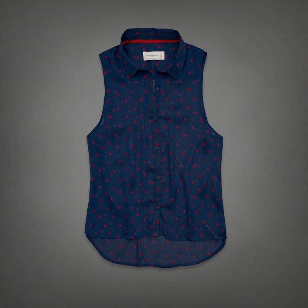 《Cupio》現貨 Abercrombie & Fitch KIRAN CHIFFON 寬鬆雪紡紗點點造型上衣(S)
