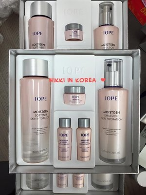 ♥ NIKKI ♥ 韓國連線 IOPE moistgen 煥顏水潤柔膚水 + 柔膚乳液 禮盒 贈旅行組喲