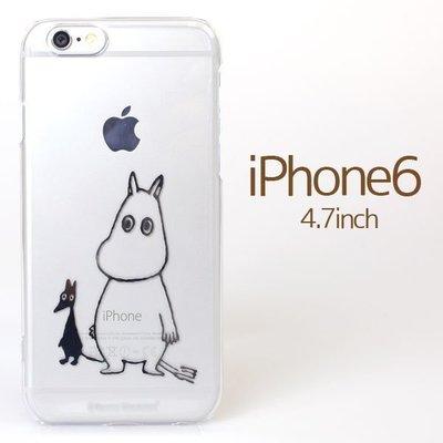 尼德斯Nydus~* 日本正版 嚕嚕米 Moomin 姆明 透明 硬殼 手機殼 4.7吋 iPhone6