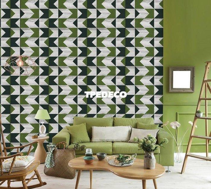 【大台北裝潢】PT馬來西亞現貨壁紙* 環保建材 復古幾何(3色) 每支580元