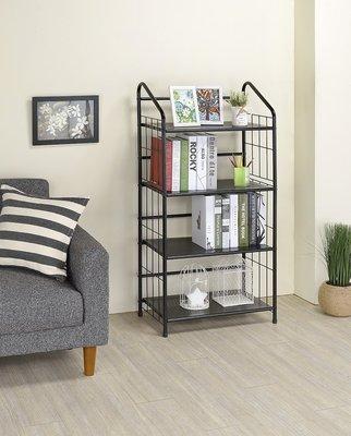 椅的世界 黑平光四層書桌架/書架、簡約、置物架、層架、耐重【12724BM】
