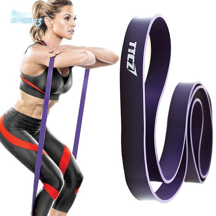 《衣匠x3》☆健身彈力繩 阻力帶 乳膠材質重量訓練/瑜珈 紫色輕量級﹝ED03P﹞