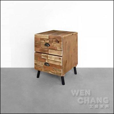 訂製品 仿舊復古 麥格文床頭櫃 做舊款 矮櫃 CU055 *文昌家具*