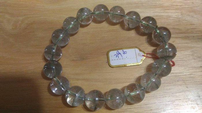 芳緣寶石坊~╭☆°129【巴西 天然綠幽靈 水晶 手鍊】 39.6g
