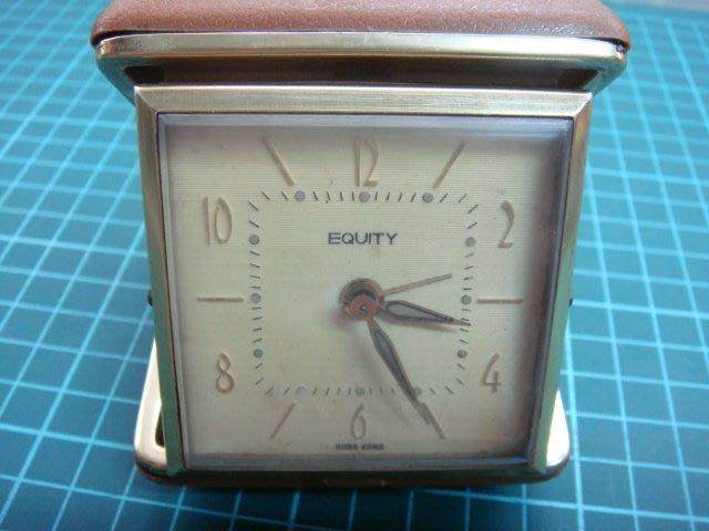 """早期(EQUITY)製""""上發條""""機械鬧鐘.能行走.品項如圖"""