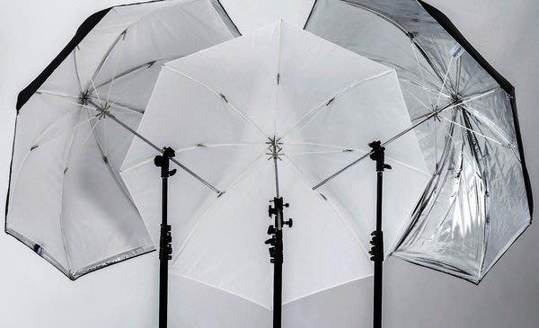 呈現攝影-英國 Lastolite 透反三用傘 銀.白.透三色 105cm 纖維傘骨.白反射傘 . 離機閃 公司貨