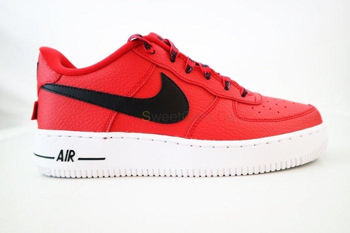 玉米潮流本舖 NIKE AIR FORCE 1 LV8(GS) 820438-606 紅黑 Logo 女鞋 低筒籃球鞋
