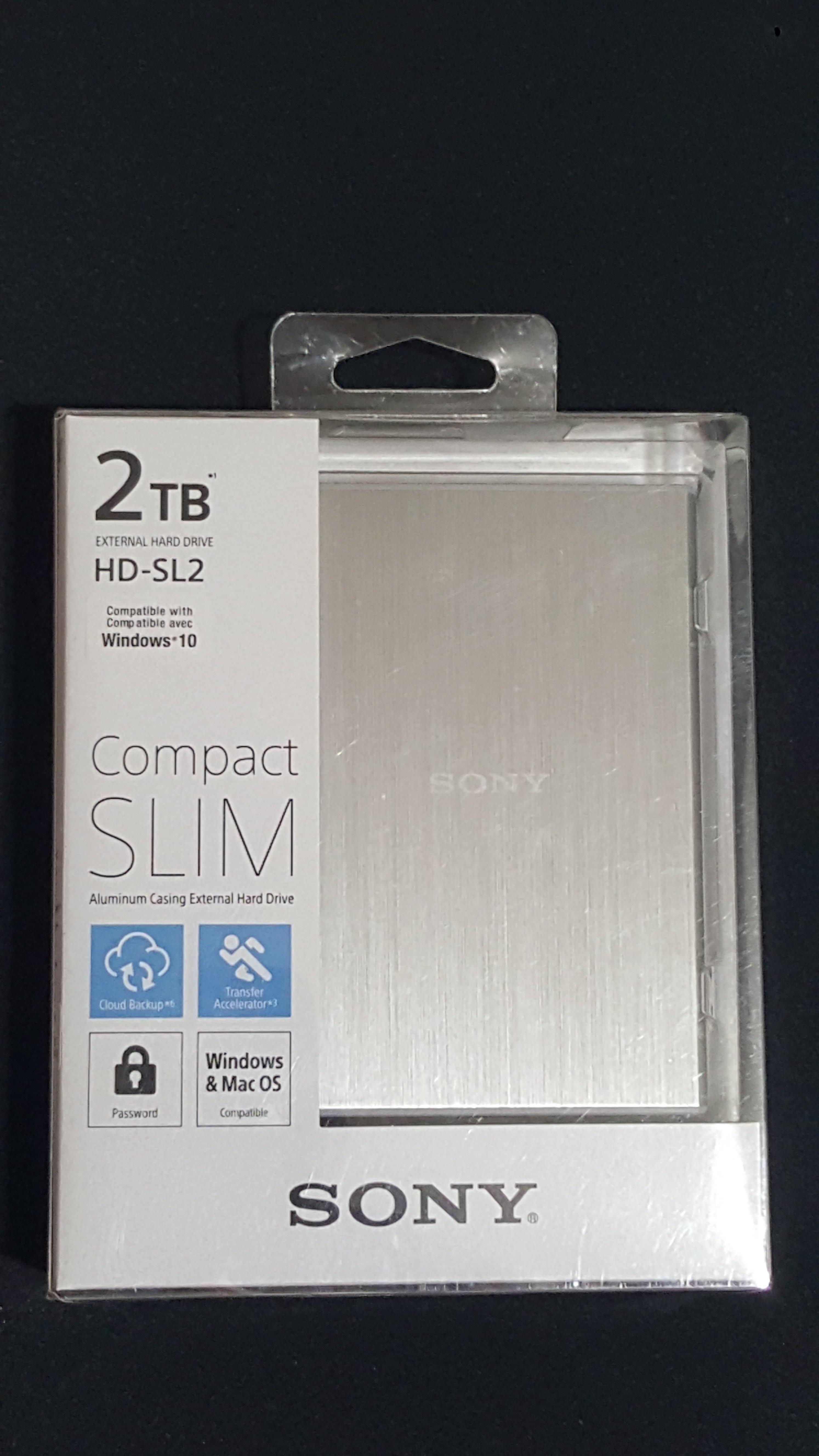 【米克斯小舖 MIX SHOP】    # SONY ~ 2TB 2.5吋(銀色)薄型行動硬碟 (HD-SL2) ~ #